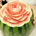 【ヒルナンデス】インスタで話題のフルーツカービング!りんごとスイカに花びら模様の作り方