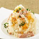 -【あさイチ】栗原はるみの冷蔵庫お片付けレシピ!しば漬け入りのポテトサラダと卵ソース