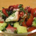 -【あさイチ】栗原はるみの冷蔵庫お片付けレシピ!たことトマトのサラダ