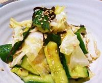 【あさイチ】きゅうり漬けとキャベツのピリ辛サラダの作り方!五十嵐美幸さんのレシピ!