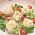 【ノンストップ】薔薇(ばら)餃子プレートの作り方!クラシルのレシピ!母の日に!