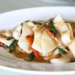 【ごごナマ】いかの肝和えとにんにくの芽の炒め物のレシピ!イカの下味冷凍活用法-