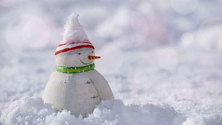 ナッツチョコ雪だるま