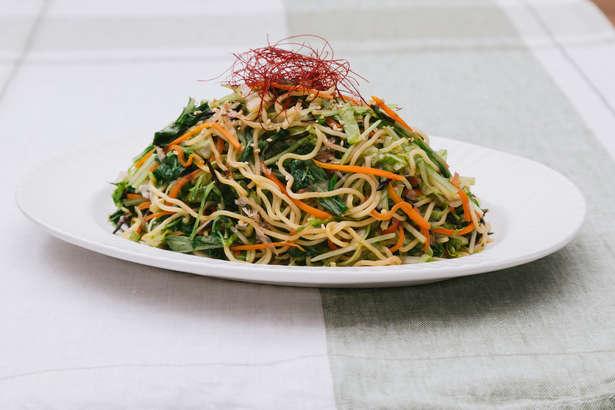 【ノンストップ】チンゲン菜の中華焼きそばの作り方。坂本昌行のワンディッシュ(9月20日)