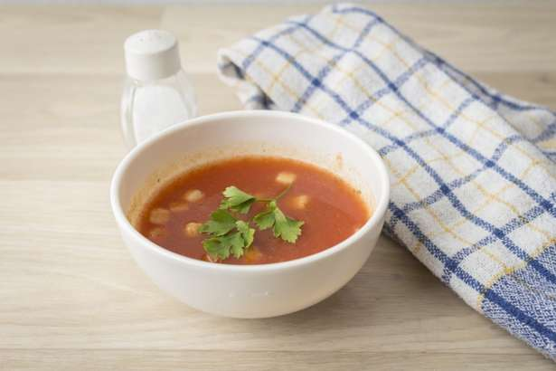 王様のブランチトマトジュースのしらスープ