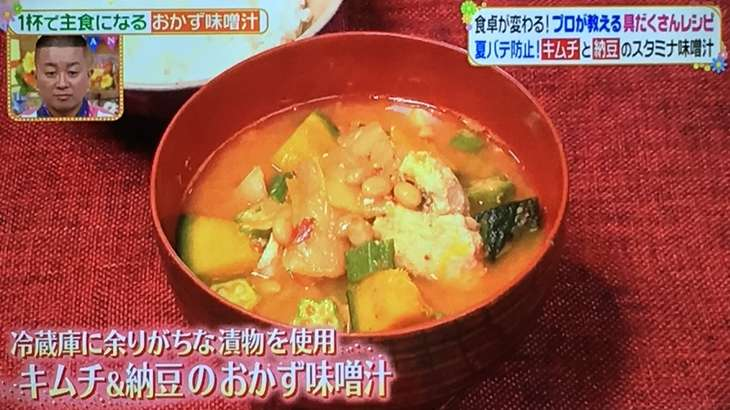 おかず味噌汁キムチ納豆