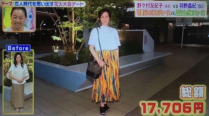 野々村友紀子さん&本田響矢さんチームのコーデ