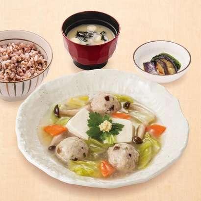 豆腐と肉だんごのトロトロ煮定食