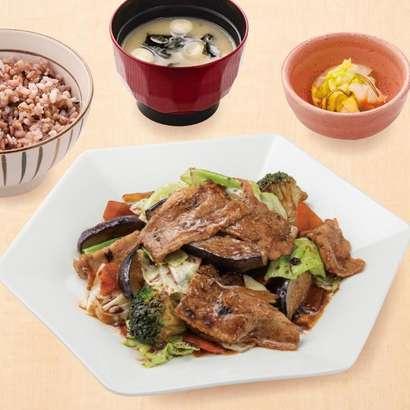 豚と野菜の豆鼓炒め定食<
