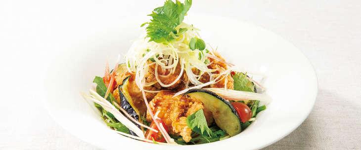 香味野菜の生姜醤油 鶏の唐揚げ デニーズ