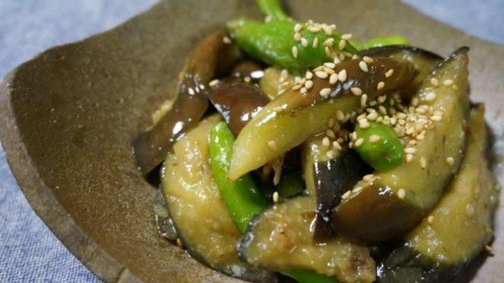 【男子ごはん】ナスとししとうのおろしポン酢和えの作り方。秋の和定食レシピ(9月15日)