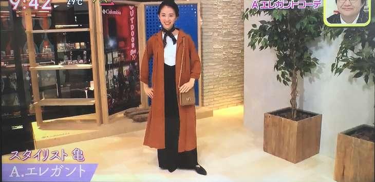亀恭子さん エレガントコーデ