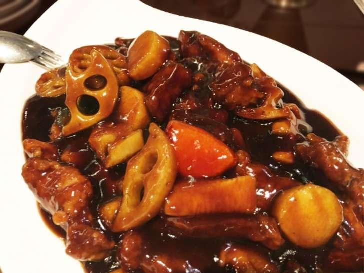 れんこんと豚肉の四川風炒め煮