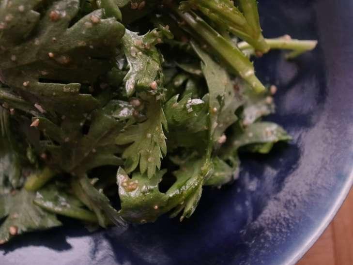 あさいち春菊の中華風サラダ