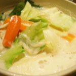 【にじいろジーン】キャベツの豆乳鍋の作り方。ミシュランシェフのレシピ【ふるさとクッキング】(1月25日)