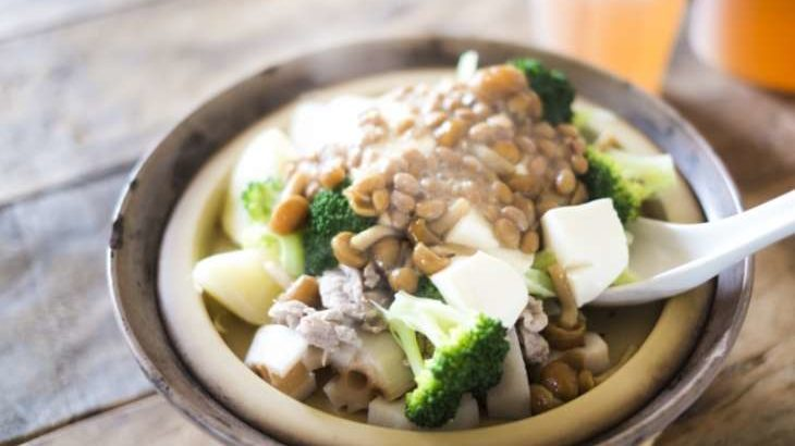 【土曜はナニする?】蒸し野菜の簡単レシピ。めかぶ・納豆・とろろのタレで!(4月18日)
