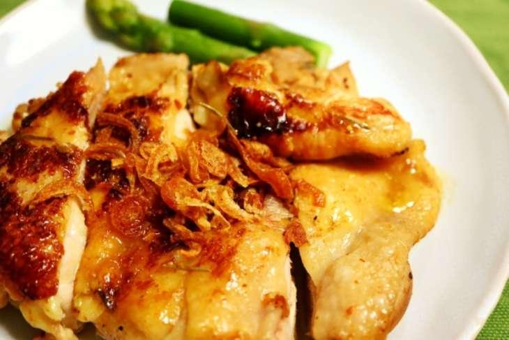 鶏モモのトウモロコシソース