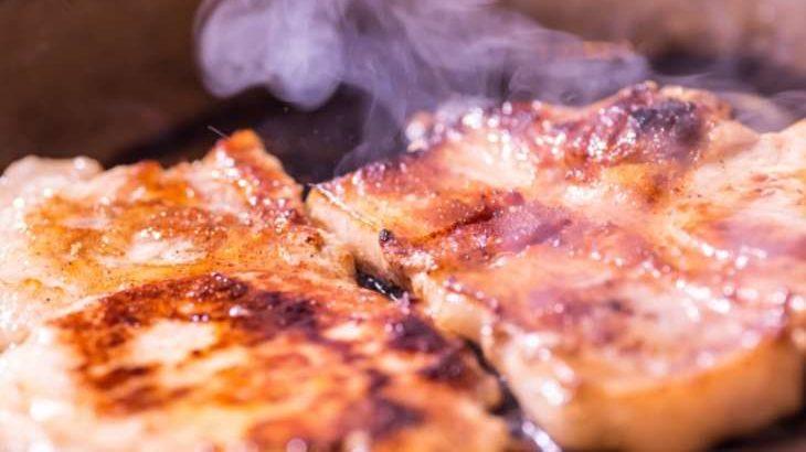 【バゲット】小松菜ソースのポークソテーの作り方。調味料は塩だけ!近藤幸子さんの楽うまご飯レシピ 10月20日