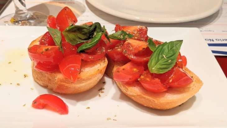あさイチトマトのブルスケッタ