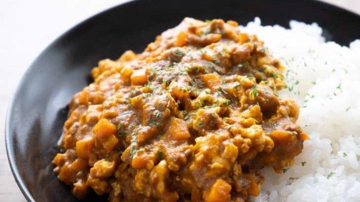 【ヒルナンデス】漬けるだけキーマカレーの作り方。野菜ジュースとレンジで簡単!遠藤香代子さんのつけおき時短レシピ(8月4日)