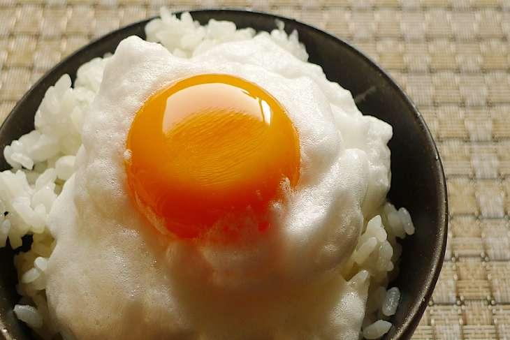 教えてもらう前と後卵かけごはん