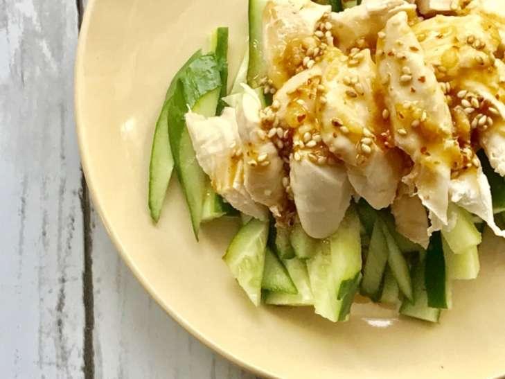 鶏肉とザーサイの中華和え