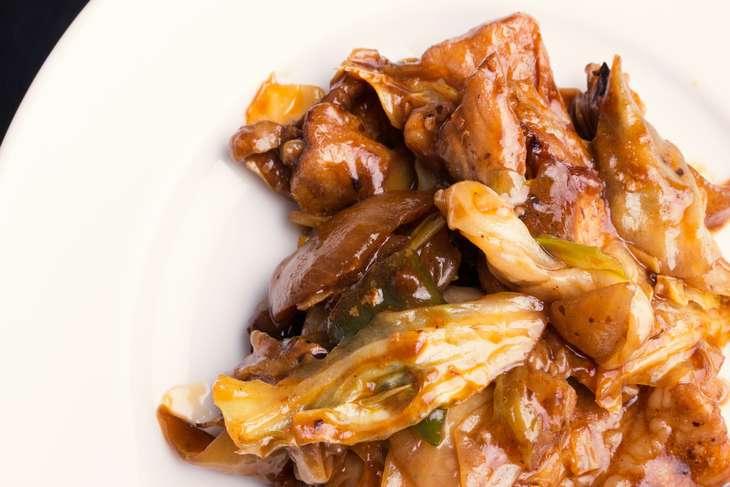 ヒルナンデス豚肉の梅ソース