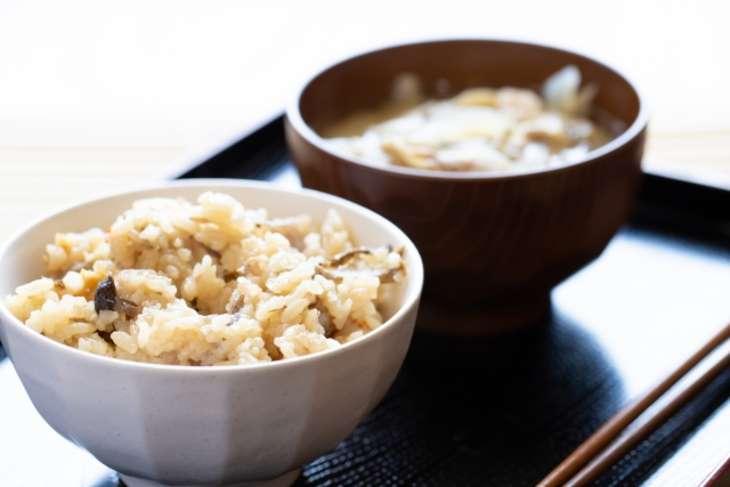 ノンストップ菜の花ポン酢炊き込みご飯