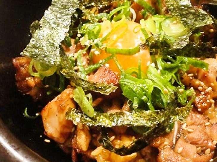 焼き鳥キムチバターご飯