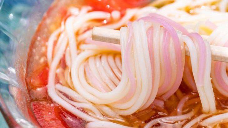 【ヒルナンデス】すりおろしトマトそうめんの作り方。コウケンテツさんのアレンジそうめんレシピ(8月3日)
