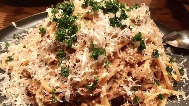 【土曜は何する】ミートソースパスタの作り方。ハンバーグで肉汁たっぷり!パスタ世界チャンピオン弓削シェフのレシピ 9月26日