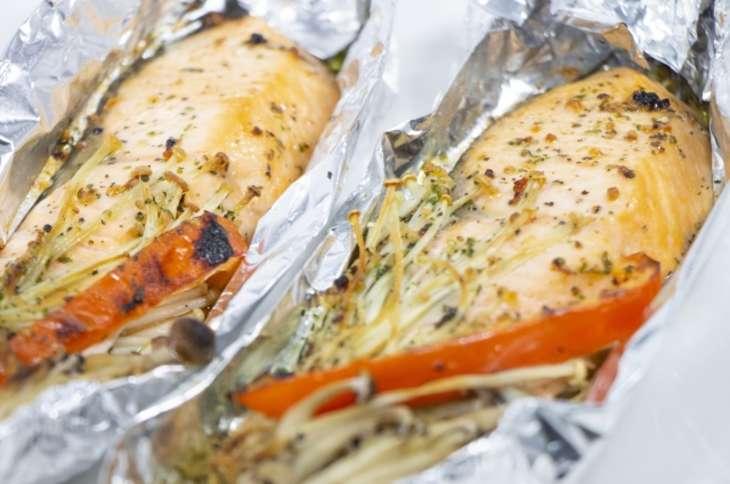 ヒルナンデス鮭包み焼き
