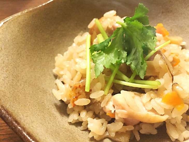 ヒルナンデスエビとガリの混ぜご飯
