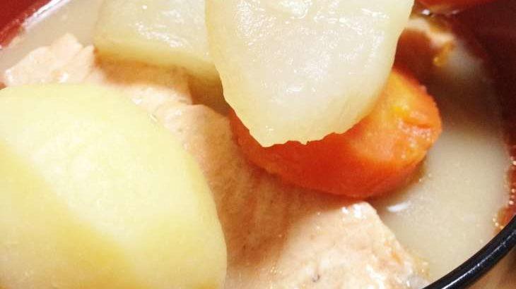 【バゲット】鮭とじゃがいものみそ蒸し煮の作り方。調味料は味噌だけ!近藤幸子さんの楽うまご飯レシピ 10月20日
