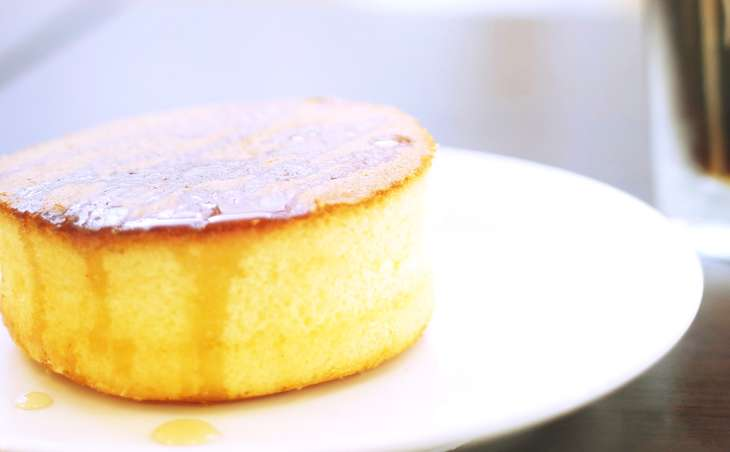 スフレ風ホットケーキの焼き方