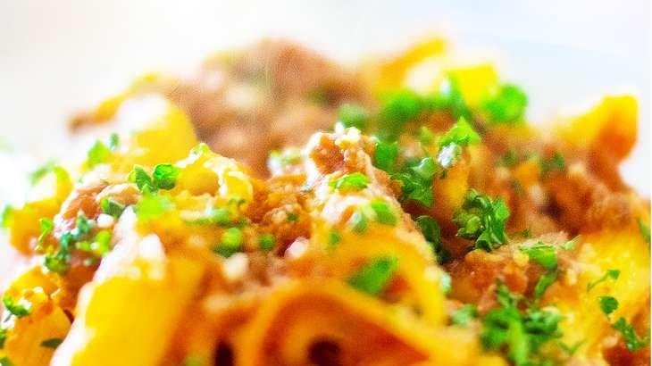 【あさイチ】甘栗と豚肉のパスタのレシピ。イタリアン片岡シェフの秋の新作ペンネの作り方 10月22日