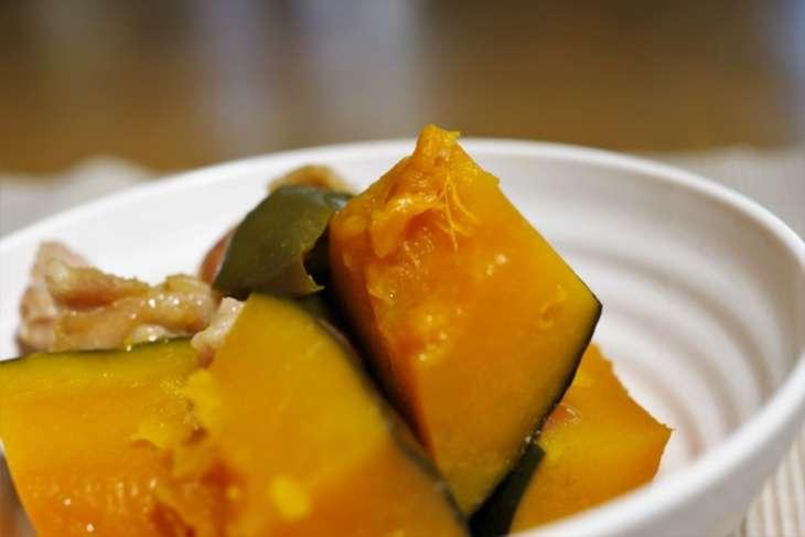 かぼちゃと厚揚げのピリ辛煮