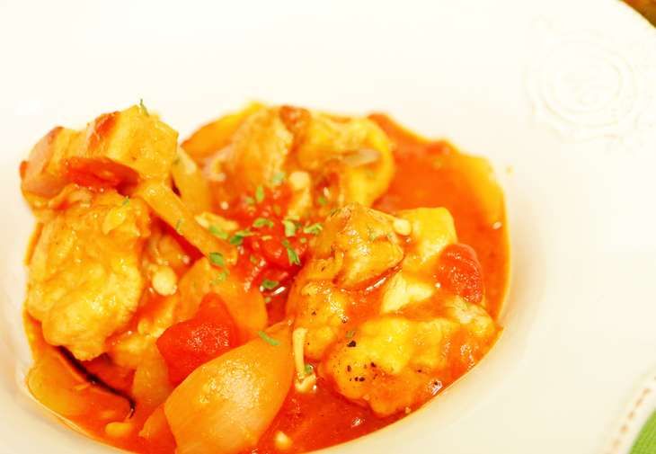 あさイチチキンのみそトマト煮