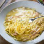 【めざましテレビ】シュクメルリ風パスタのレシピ。杉野遥亮さんがガッツリ飯に挑戦(5月18日)
