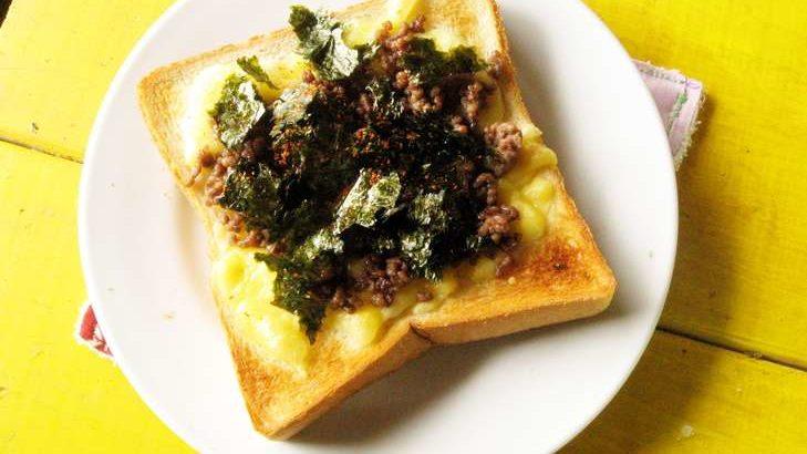 【スッキリ】のりチーズのたけのこトーストのレシピ。トースト簡単アレンジ!(4月30日)