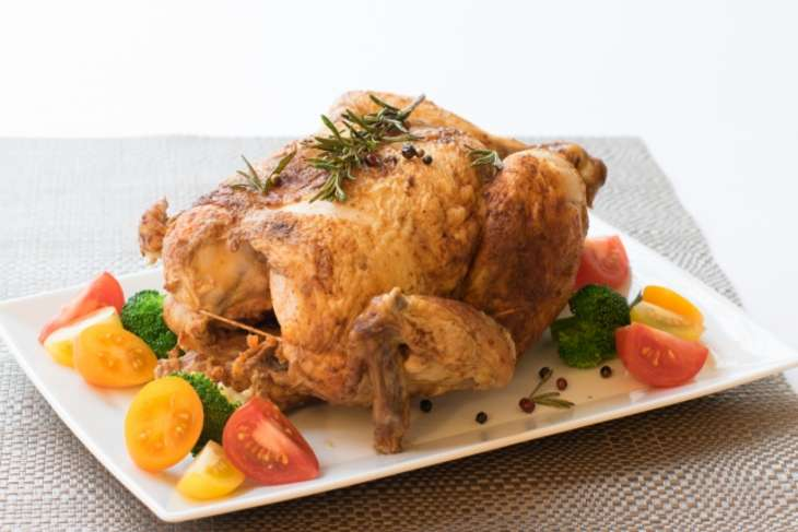 あさイチ丸鶏の塩釜焼き