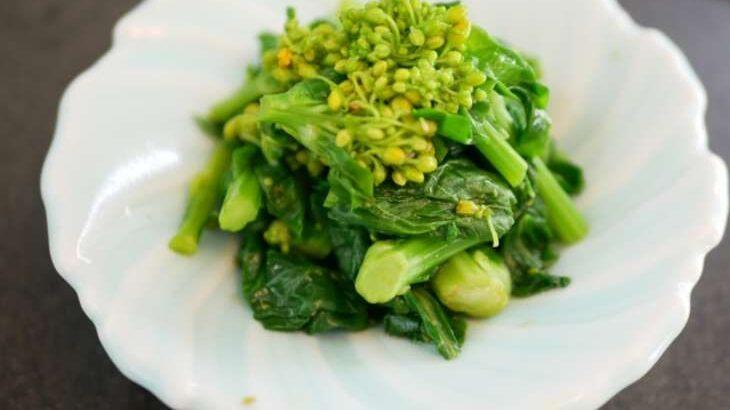【あさイチ】菜の花と油揚げのからしみそあえのレシピ。斉藤辰夫さんの本格和食の作り方。1月19日