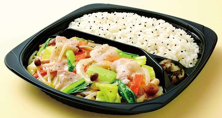 野菜炒め弁当(塩味)