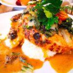 【男子ごはん】豚肉とベーコンのモッツァレラチーズロールれんこんピューレのレシピ。栗原心平さんのビストロ料理 2月7日