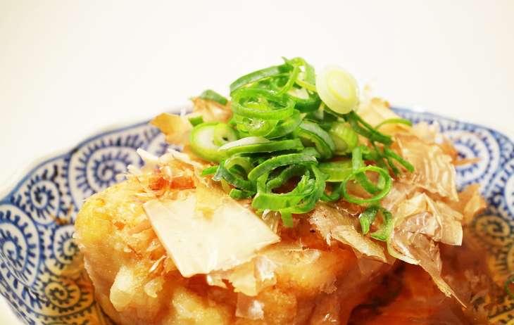 ノンストップサワラと豆腐の揚げだし