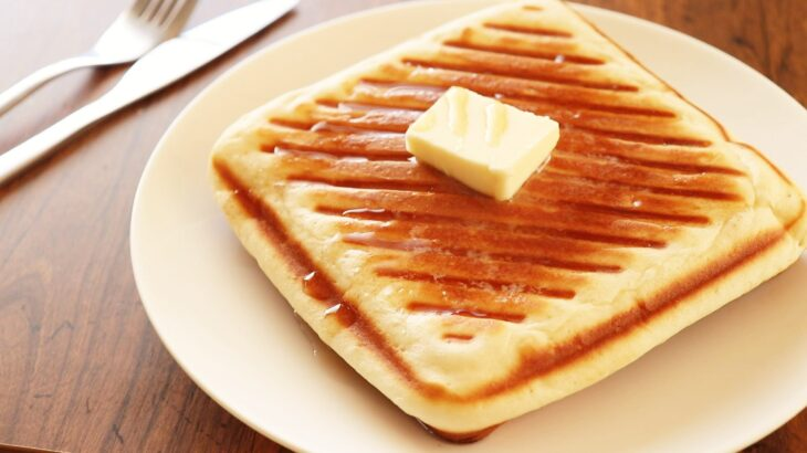 【家事ヤロウ】ホットサンドケーキのレシピ。カリふわ極厚ホットケーキの作り方。話題の簡単朝食ベスト20!(3月23日)
