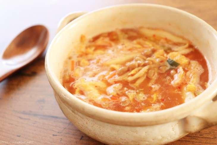 リュウジ納豆チゲスープ