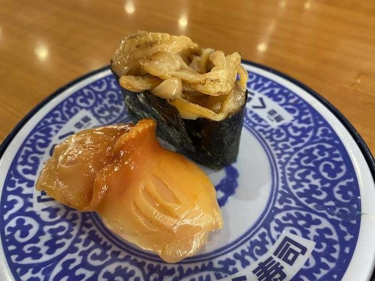 くら寿司 従業員イチ押し 第5位! 大粒赤貝 二種盛り