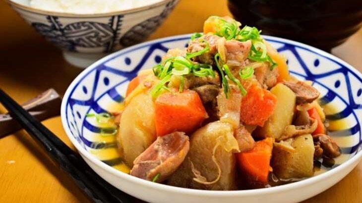 【男子ごはん】鶏じゃがのレシピ。3つの食材だけで3品!鶏肉、じゃがいも、にんじんで(5月2日)