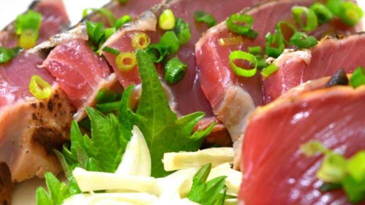 【ノンストップ】カツオのたたきニンニクソースのレシピ。笠原将弘シェフの本格和食(5月24日)